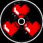 Three Heart Shaped Pixels