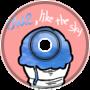 blue, like the sky