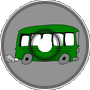 every green bus drives fast