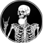 Spooky Scary Skeletons Metal Cover